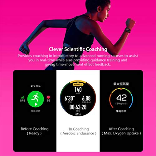 certainPL Huawei Honor Watch Magic Smart Watch, Multiple Sports Modes, Heart Rate AI Monitor, All-Day Pressure Manager, GPS, Alipay/NFC Bus Card Payment, 1.2'' AMOLED Colorful Touch Screen (Black) by certainPL (Image #5)