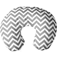 Simon's Baby House Nursing Pillow and Positioner (Chevron Zig Zag Gray and Wh...