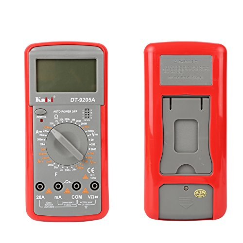 Electronic Volt Amp Ohm Meter Multimeter with Diode and Continuity Test, LCD display,Measures Voltage, Current, Resistance, Capacitance, Frequency by Kaisi (Image #6)