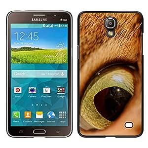 EJOY---Cubierta de la caja de protección para la piel dura ** Samsung Galaxy Mega 2 ** --Gato jengibre anaranjado Ojo Pelo Corto Alumno