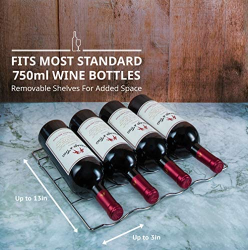 Schmecke 24 Bottle Compressor Wine Cooler Refrigerator w/Lock | Large Freestanding Wine Cellar | 41f-64f Digital Temperature Control Wine Fridge For Red, White, Champagne or Sparkling Wine - Black