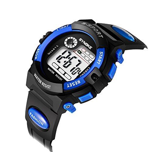 Kids Digital Waterproof Watch for Girls Boys,Outdoor Waterproof Digital Watch Children Alarm Wristwatch