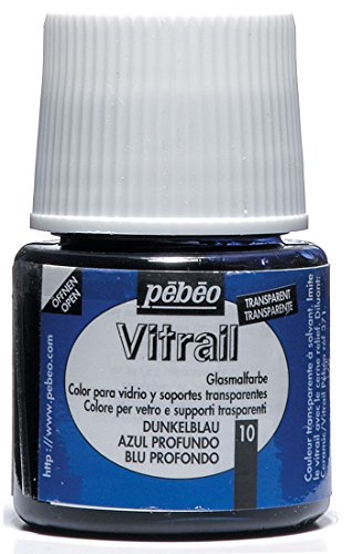 Pebeo Vitrail Glass Paint 45Ml Deep Blue