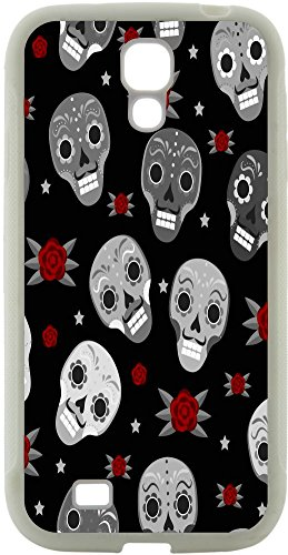 I9100 Cell Phone (Rikki Knight Day of the Dead Design Samsung Galaxy S4 Case Cover (White Hard Rubber TPU with Bumper Protection) for Samsung Galaxy S4 i9500)