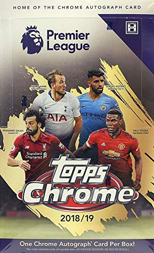 2019 (2018/19) Topps Chrome Premier League HOBBY Soccer box (18 pk)