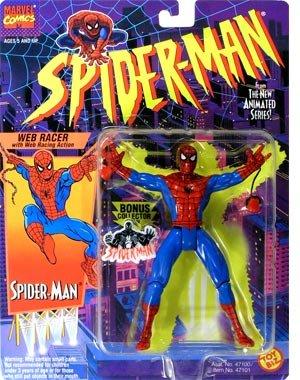 Toy Biz Web - SPIDER-MAN ANIMATED SERIES:WEB RACER SPIDER-MAN ACTION FIGURE