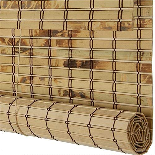 WUFENG-zhulian Roll Up Blind Bamboo Roller Blind Waterproof Antiseptic Roller Blind Shade Sunscreen Outdoor