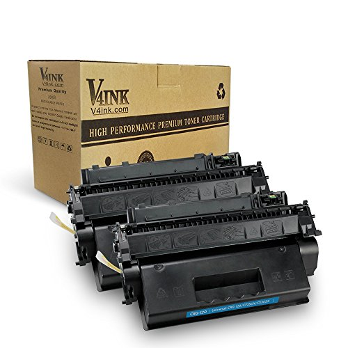 V4INK 2 Pack High Yield(6,900 Pages) Canon 120 (2617B001AA) Compatible Toner Cartridge for Canon imageCLASS D1120 D1320 D1350 D1150 D1180 D1170 D1370 Series (Cartridge 120 Black Toner)