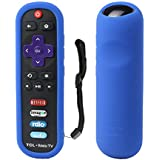 TCL Roku RC280 Remote Case SIKAI Silicone Shockproof Protective Cover For Roku 3600R / TCL Roku RC280 TV Remote [RoHS Tested Material] Skin-Friendly Anti-Lost With Remote Loop (Blue)