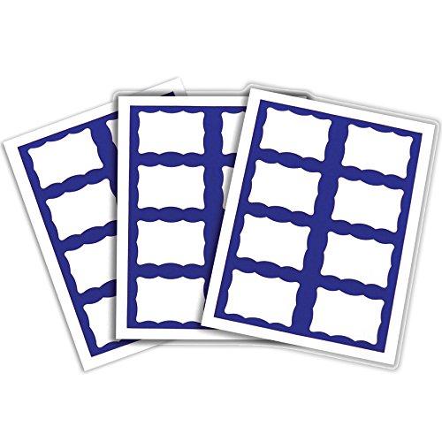 C-Line Pressure Sensitive Inkjet/Laser Printer Name Badges, Blue Border, 3.38 x 2.33 Inches, 200 Labels per Box -