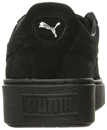 Puma Puma Damen Black Basket Platform Sneaker Black Puma Metallic Black Puma TXOznwqxd