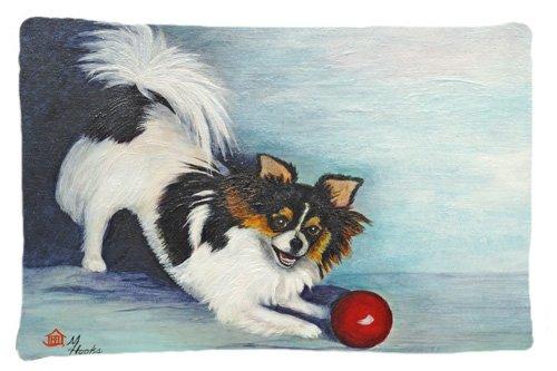 Large Carolines Treasures MH1054PILLOWCASE Chihuahua Play Ball Fabric Standard Pillowcase Multicolor