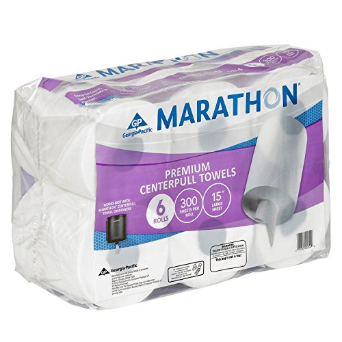 Marathon Center Pull Premium Paper Towel Rolls, 1,800 Sheets (6 ()