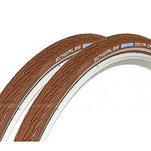 Schwalbe Delta Cruiser 700 x 35c Hybrid Bike Tyres - Tan (Pair)