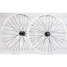 Wheel Master Weinmann DP18 Wheel Set - 700c, 32H, Fixie, White/Black/Black