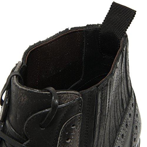 amp;G Scarpe Stivali Uomo Gabbana D Boots Dolce Allacciato Derby Nero Stivaletto Grigio 9606G Men amp; zwAq84