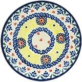 Polish Pottery Saucer 5-inch Hearts Around Hearts