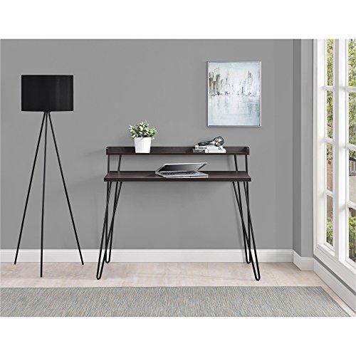 Altra Furniture Haven Retro Desk With Riser Espresso