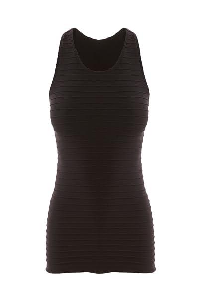 7ef122dadb537 Sugar Lips Seamless Ribbed Cropped Tank - Black at Amazon Women s Clothing  store