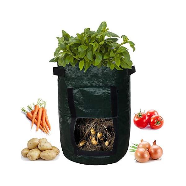 Coltivazione Di Patate Borsa Contenitore Fioriera Fai Da Te Pe Panno Piantatura Orto Giardinaggio Verdura Vaso Da… 5 spesavip