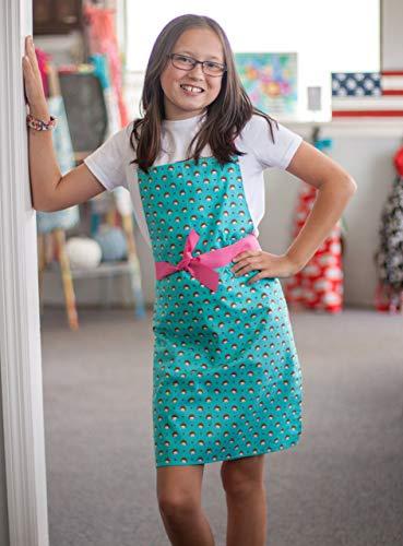 Handmade Hedgehog Tween Girl Apron Gift for Art or Kitchen from Sara Sews