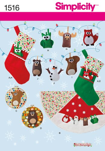 Simplicity Patterns Felt Ornaments, Wall Hangings, Stocking and Tree Skirt