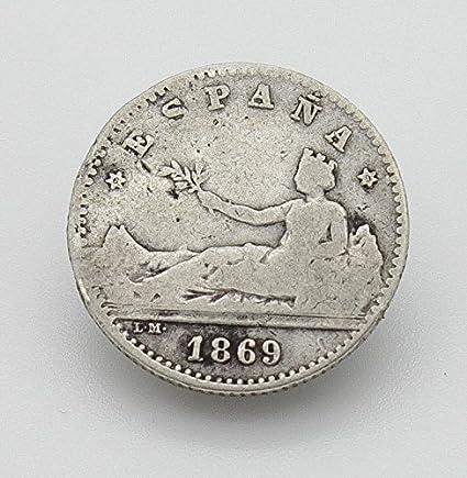 Desconocido Moneda de 50 Cent del Año 1869. Moneda de Plata ...