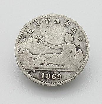 Desconocido Moneda de 50 Cent del Año 1869. Moneda de Plata. Moneda Coleccionable. Moneda de Coleccionista. Moneda de España.: Amazon.es: Juguetes y juegos