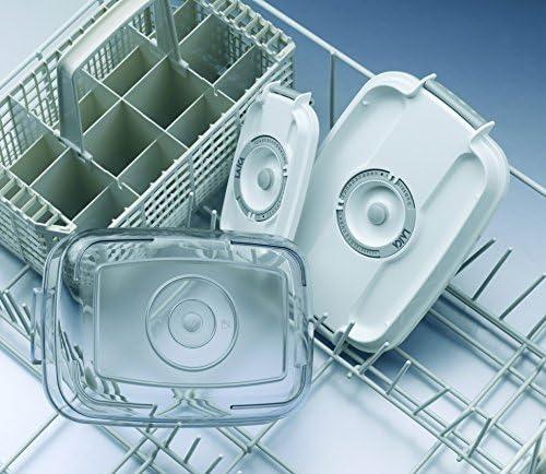 2 envases de 0, 5 y 1 litro de capacidad para la conservación al vacío de alimentos Laica VT3302 en tritán (muy resistentes) se pueden lavar en el lavavajillas. Incluye una bomba manual.: Amazon.es