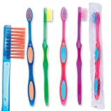 Oraline Pre-Teen Sparkle Grip Toothbrushes - Dental Hygiene Products and Supplies - 144 per Pack