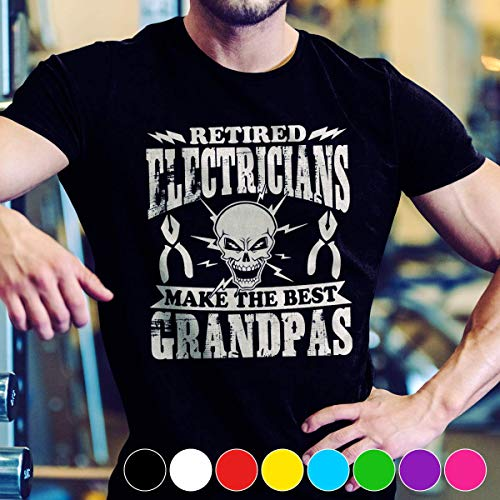(Electrician Electrician Tee Shirt make the best grandpas T Shirt Long Sleeve Sweatshirt Hoodie Youth)