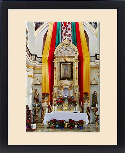 Framed Print of Mexico, Jalisco, Puerto Vallarta. Altar of Our Lady of Guadalupe church. Credit by Fine Art Storehouse