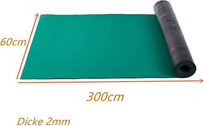 /établi vert ligne de production laboratoire Uyoyous ESD Tapis en caoutchouc antistatique 60 x 300 cm Tapis de soudure pour atelier