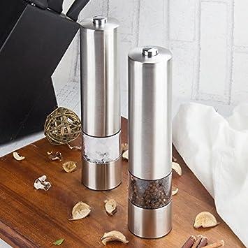 Batterieleistung DE 2 Stück Automatische Elektrische Salzmühle Pfeffermühle