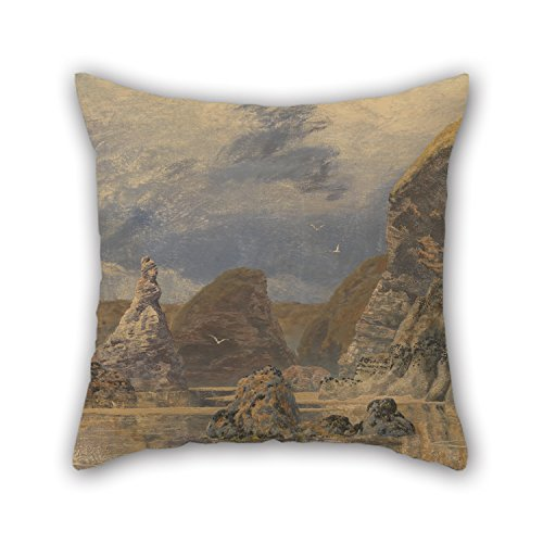 Pillowcover 16 X 16 Inches / 40 By 40 Cm(two Sides) Nice Choice For Dining Room,pub,home Theater,sofa,office,boys Oil Painting John Brett - Seascape (Wicker Brett)