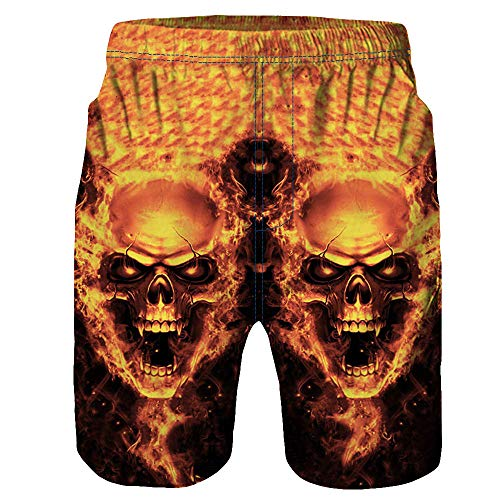 (iCODOD Men's Swimming Trunks, Beach Work Shorts Beach Pants Beach Volleyball Shorts(Gold,M))