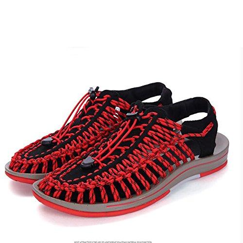 tamaño Camping Tamaño Naranja sandalias recorte diseño ajustable 38 libremente Zapatos hombre Naranja Color de tejido Verano 38 Ocio sandalia 46 respirar ZJM SwgH8qaxCW