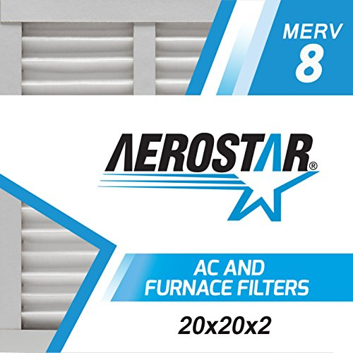 20x20x2 AC and Furnace Air Filter by Aerostar - MERV 8, Box of 6 (Furnace Filter 20x20x2 compare prices)