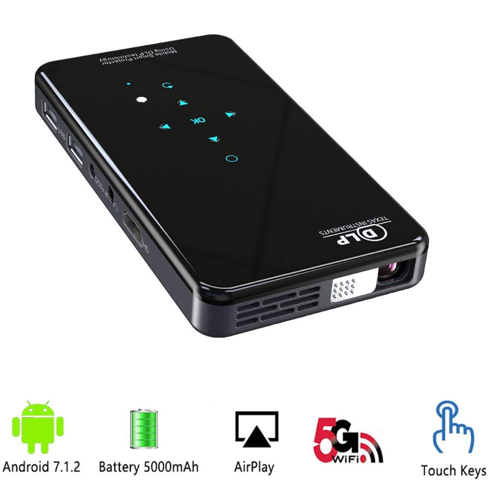 Amazon.com: Mini Projector,Android 7.1 HDMI WiFi DLP ...