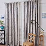 Curtains Pleat Jacquard High shading Noise Reducting Warm Protecting Bedroom Decoration Modern minimalist Window Drapes , A