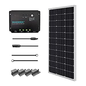 Admirable Amazon Com Renogy 100 Watts 12 Volts Monocrystalline Solar Starter Wiring Digital Resources Otenewoestevosnl