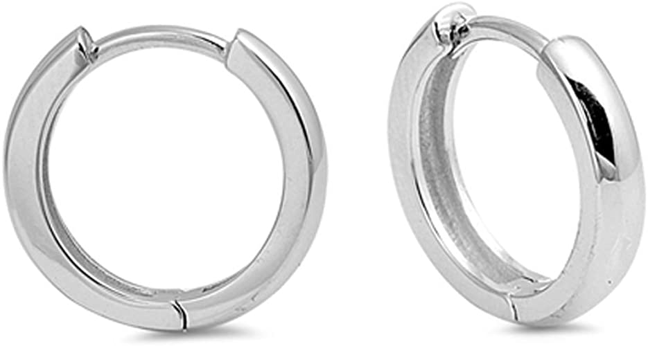 Sterling Silver 3mm Polished Twisted Hoop Earrings and a pair of 4mm CZ Stud Earrings