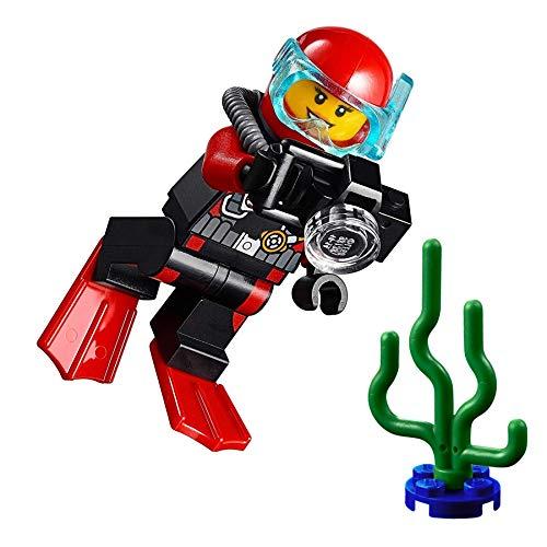 LEGO City MiniFigure: Deep Sea Explorers - Female Scuba Diver (w/ Camera and Sea Plant)