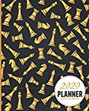 Chess Master White Pieces  2020 Planner Weekly And Monthly: Calendar Schedule and Organizer. Inspirational Quotes | January 2020 through December 2020