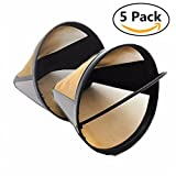washable waffle maker - OWIKAR 5 Pcs Coffee Filter Premium Washable and Reusable Cone Permanent Coffee Filter Fits Cuisinart Most other Coffee Makers
