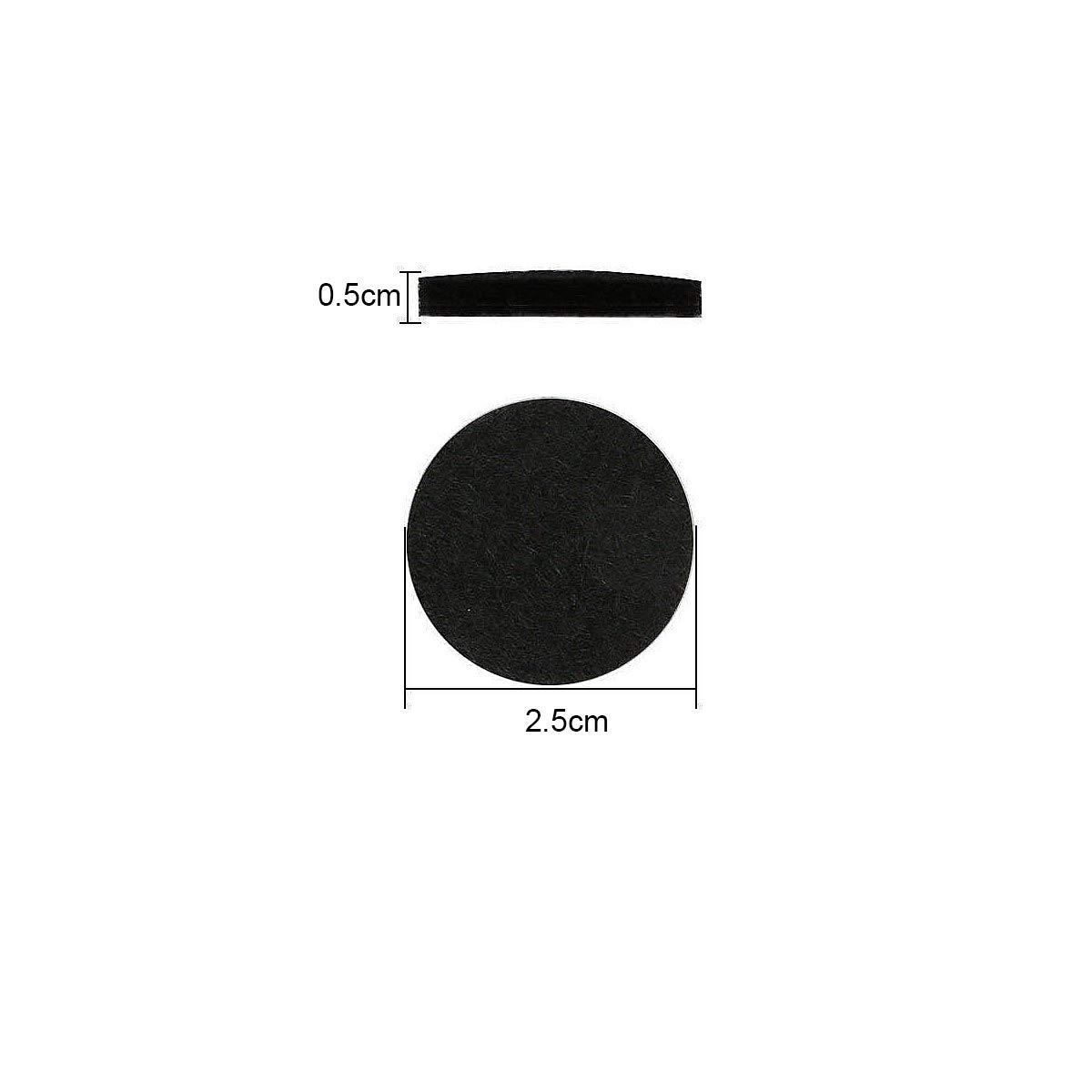 Fieltro Protecci/ón para Patas de Mesa y Sillas y Muebles 50Pcs 30mm Redondo Almohadillas para Muebles y Sillas Negro Almohadillas Protectores de Fieltro Autoadhesivas