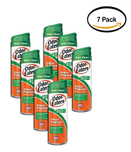 (PACK OF 7 - Odor-Eaters Deodorant Foot Spray, Odor and Wetness Protection, Foot Odor Treatment Spray Powder, Fight Shoe Odor, 4 oz spray)