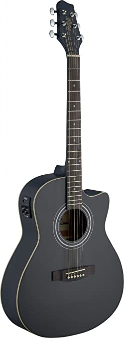 Amazon Stagg SA30ACE BK Auditorium Cutaway Acoustic Electric Guitar