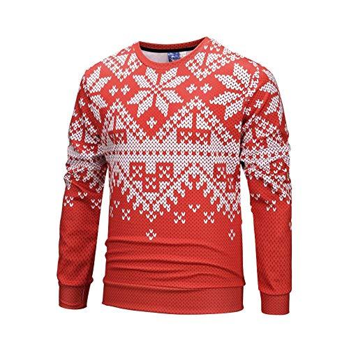 Autunno Maglione Natale A1636 Inverno Stampa 3d Lunghe Camicia A fby Digitale Unisex Tcly Di Serie Girocollo Larga Maniche E qxfBnXR8w