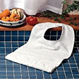 Patterson Medical Standard Terry-Cloth Food Catcher, White - Pack of 10